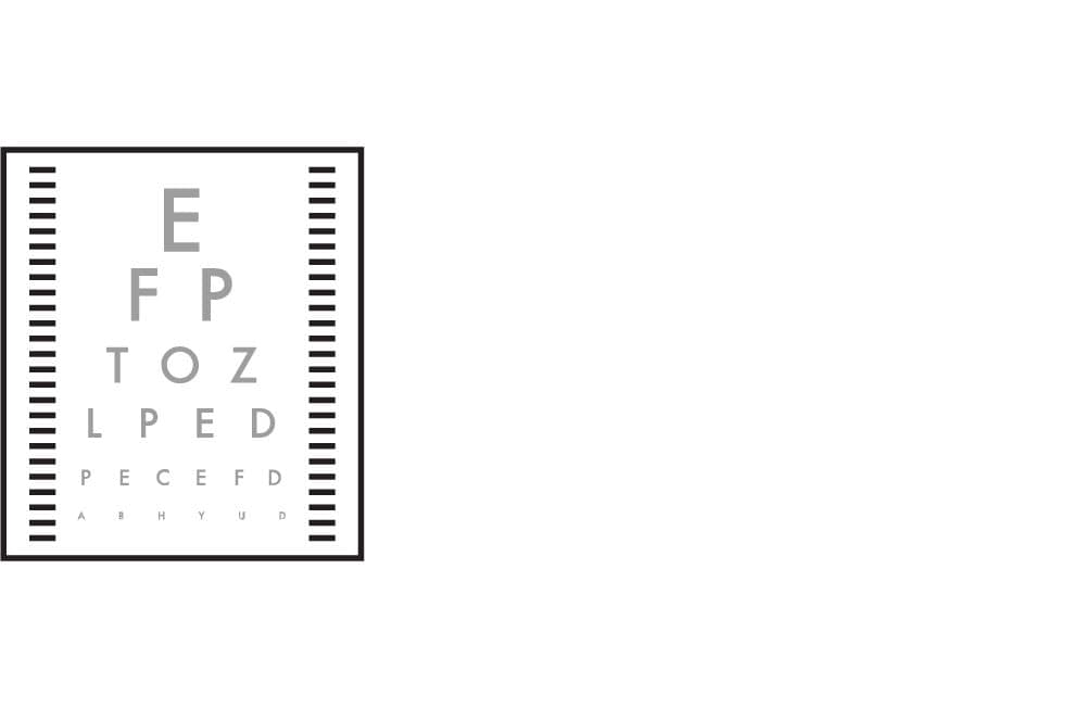 eye exam sign icon